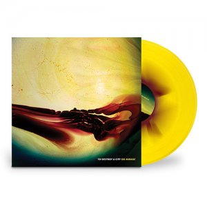 to destroy a city - go mirage - Yellow w/Oxblood 180gm LP