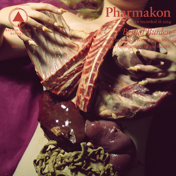 pharmakon - bestial burden - red lp